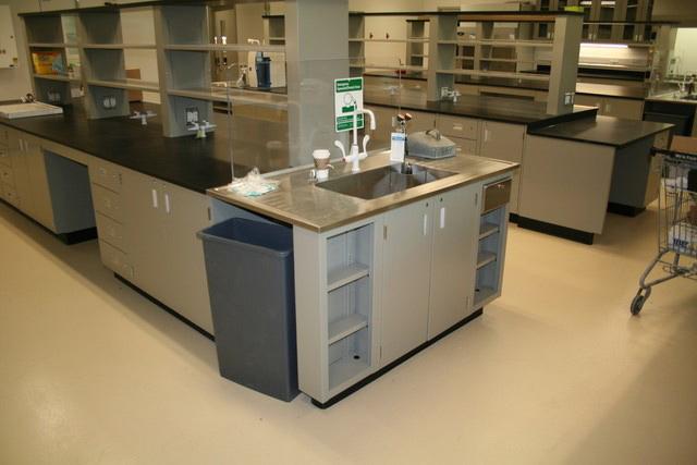 armor rock flooring in lab