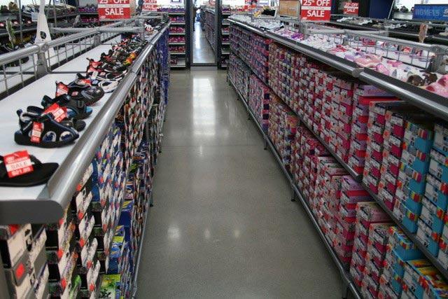 armor rock flooring in shoe store