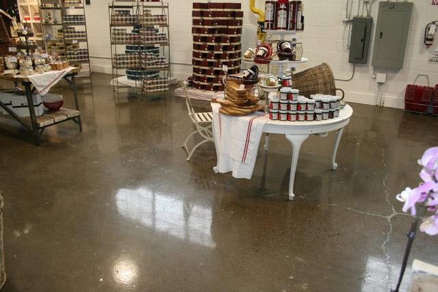 coated store floor