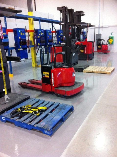 coated factory floor